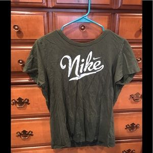 Green Nike Logo T-Shirt